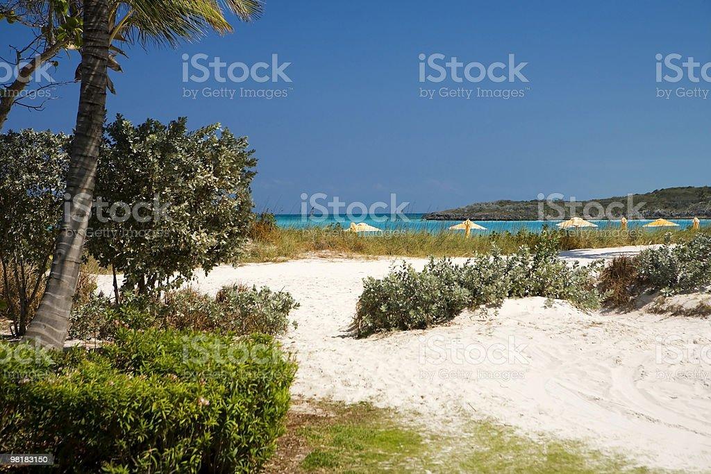 리조트 모래 해변 road royalty-free 스톡 사진