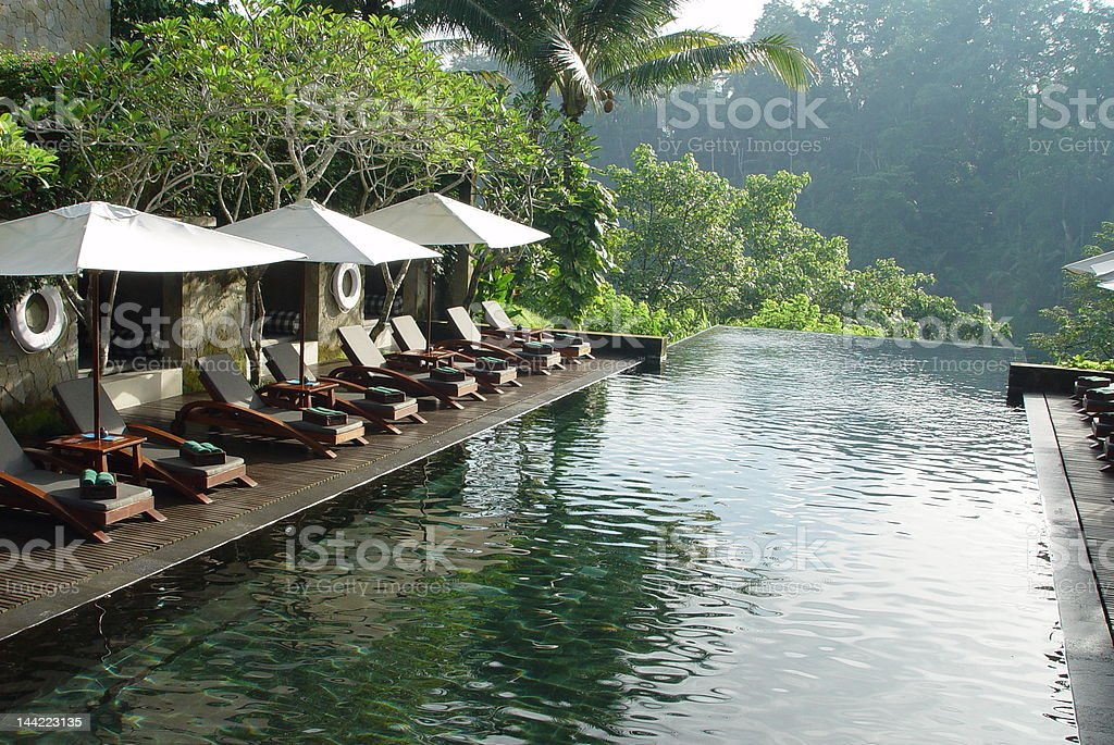 Resort swimming pool royalty-free stock photo