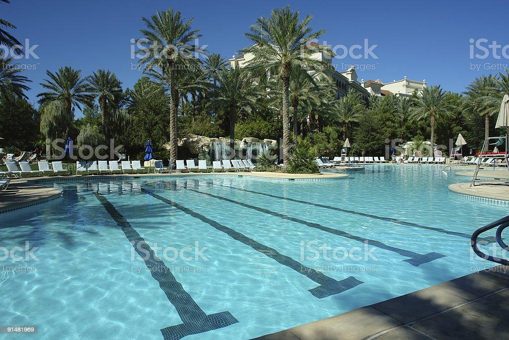 resort swimming pool stock photo