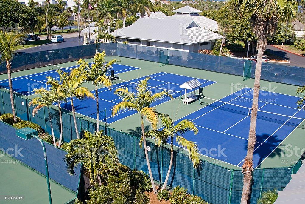 Resort Tennis Club stock photo