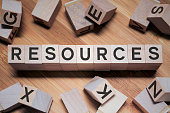 istock Resources Word In Wooden Cube 1181567551