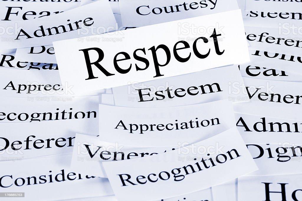 Respect Concept stock photo