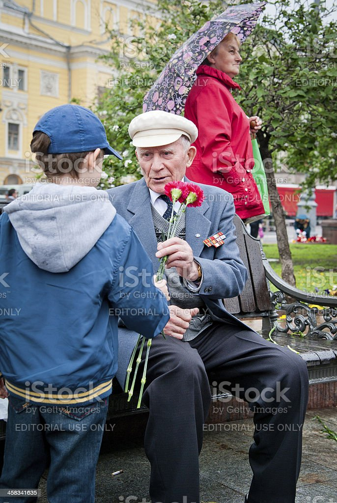 Respect for the Veterans royalty-free stock photo