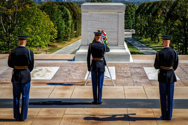 respect - arlington national cemetery stock pictures, royalty-free photos & images