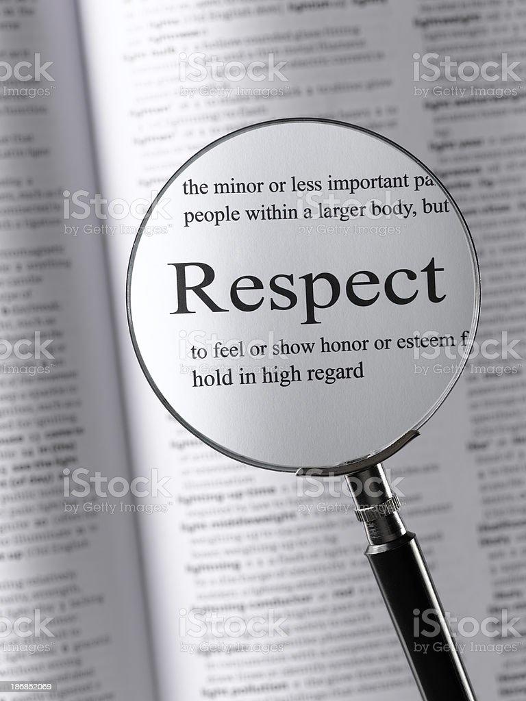 Respect royalty-free stock photo