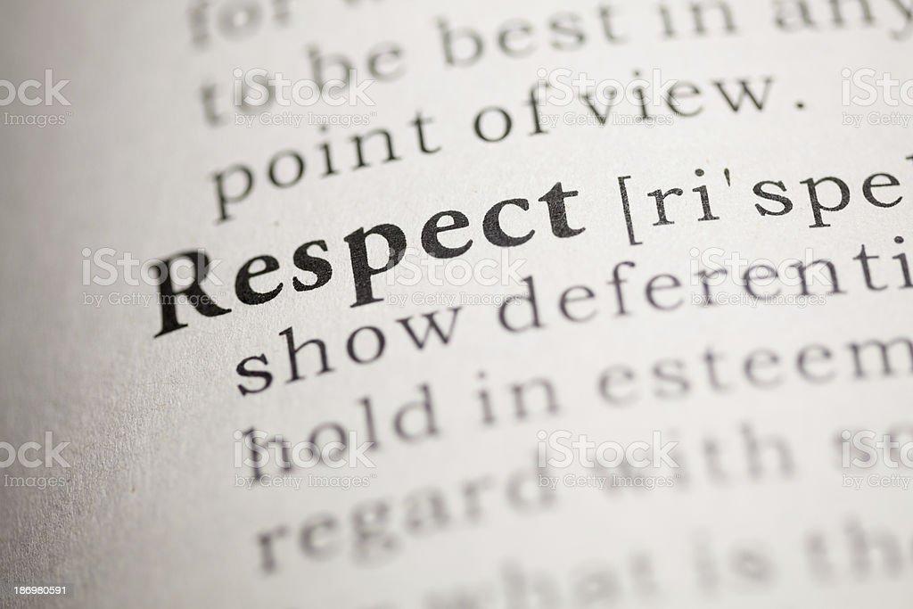 Respect stock photo