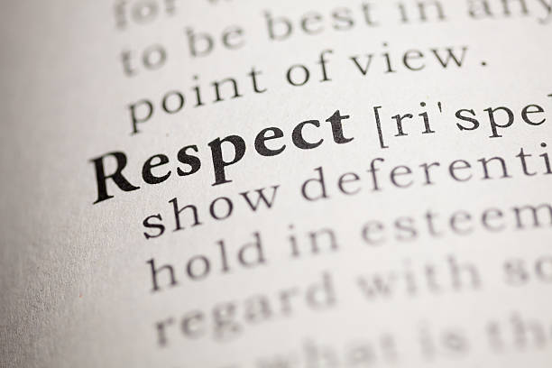 Respect Fake Dictionary, Dictionary definition of the word Respect. dignity stock pictures, royalty-free photos & images