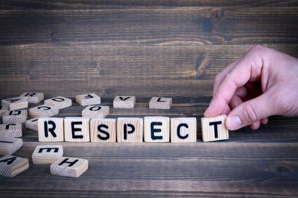 respect. wooden letters on the office desk - respect stock photos and pictures
