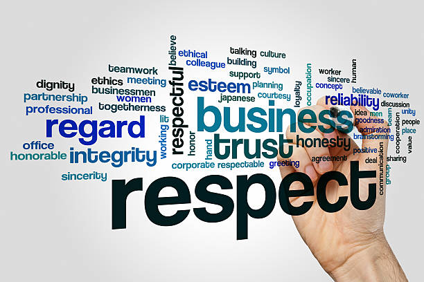 respect word cloud concept - respect stock photos and pictures