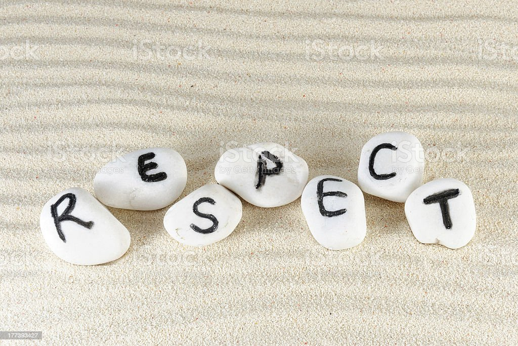 Respect word royalty-free stock photo