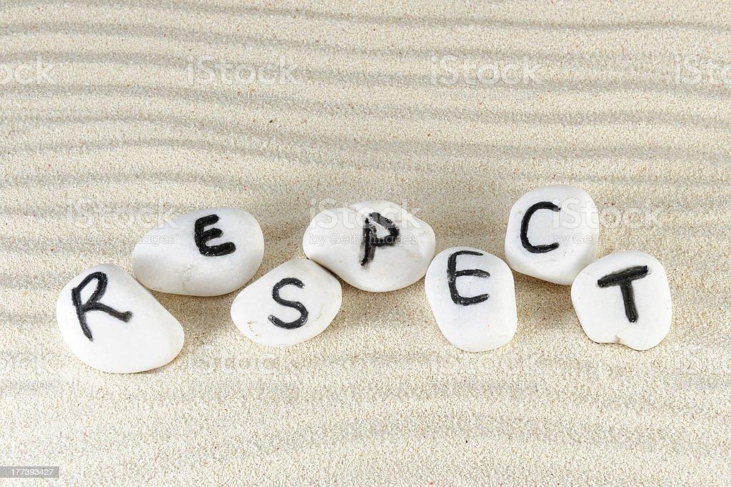 Respect word stock photo