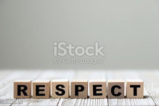 istock Respect word written on wood block 1215422872