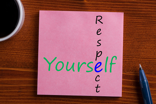 istock Respect Yourself written on note 905001242
