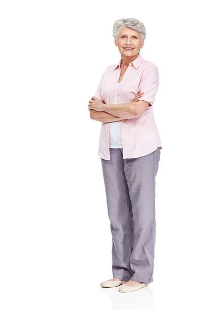 membre respecté de l'association de la communauté de retraités - seulement des femmes seniors photos et images de collection