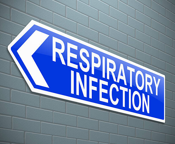 Respiratory infection concept. Illustration depicting a sign with a respiratory infection concept. respiratory disease stock pictures, royalty-free photos & images