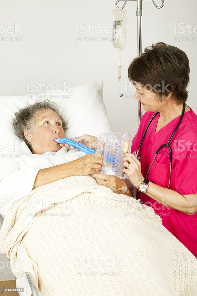Respiratory Therapy in Hospital royalty-free stock photo