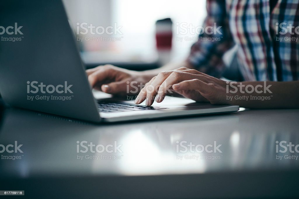 Responding to new business offers stock photo