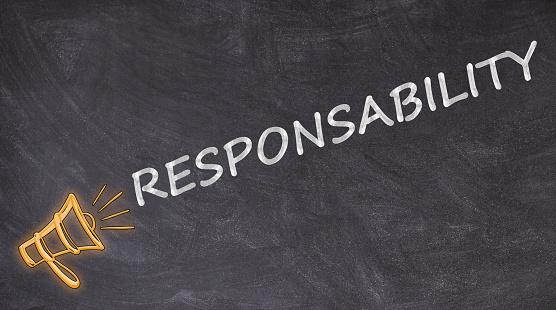 Responsability Skrivet På Blackboard Med Megafon-foton och fler bilder på  Affärsstrategi - iStock