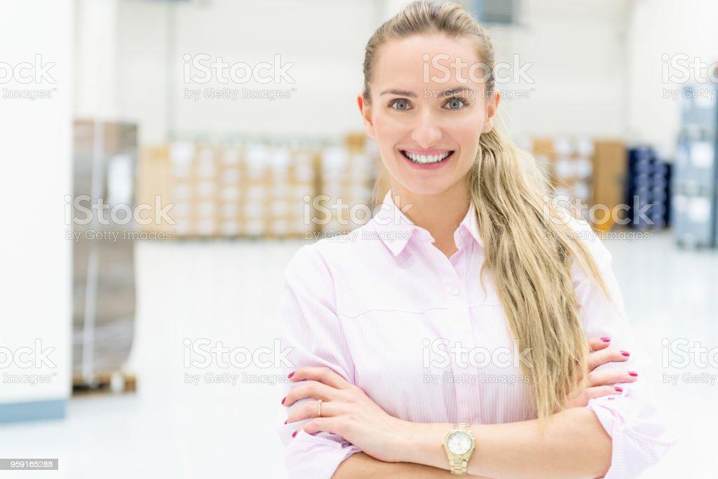 Responsibility at warehouse stock photo