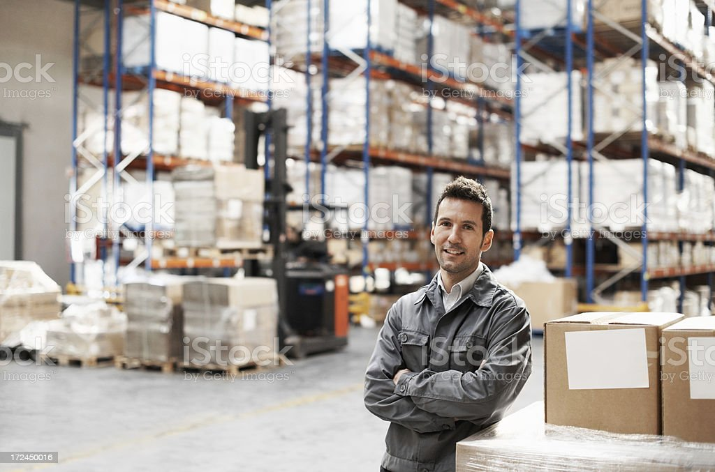 Responsibility comes with this job - Warehouse manager royalty-free stock photo