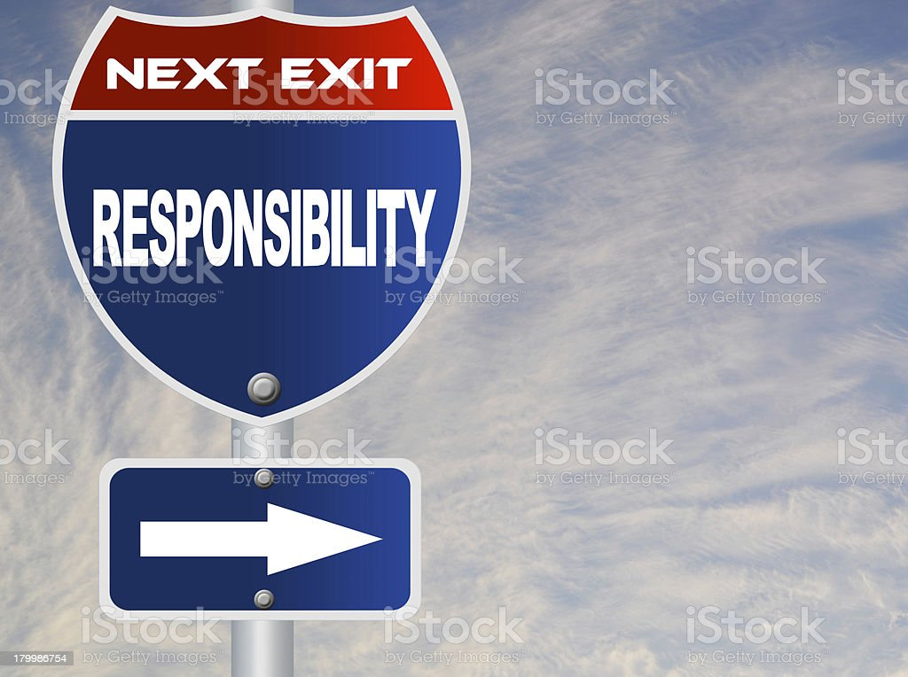Responsibility road sign royalty-free stock photo