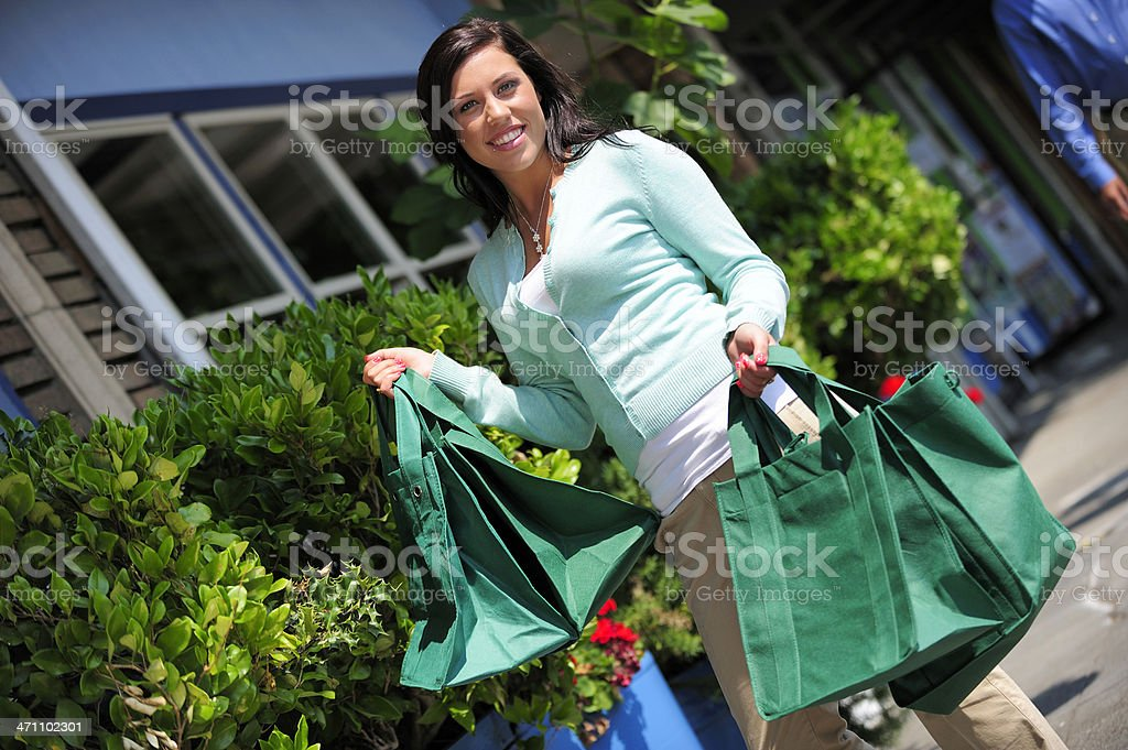 Responsible Shopper royalty-free stock photo