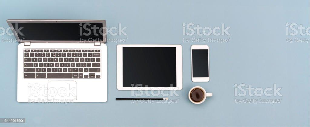 responsive design header stock photo