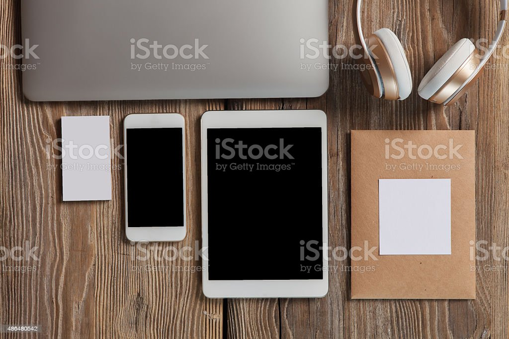 Responsive design mockup stock photo