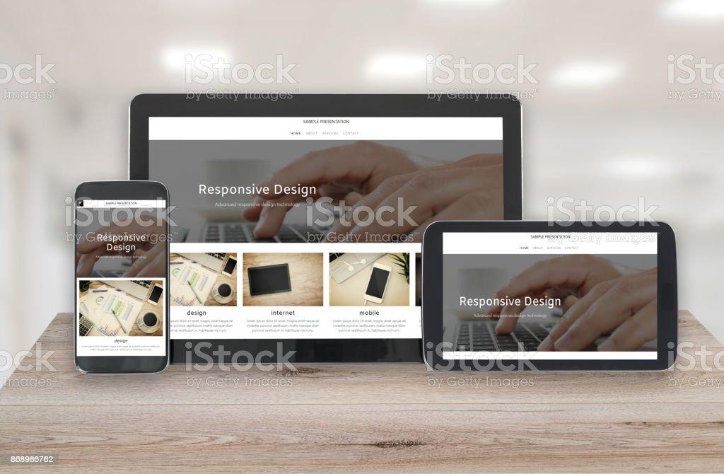 Technologie de conception sensible photo libre de droits