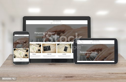 istock Responsive design technology 868986762