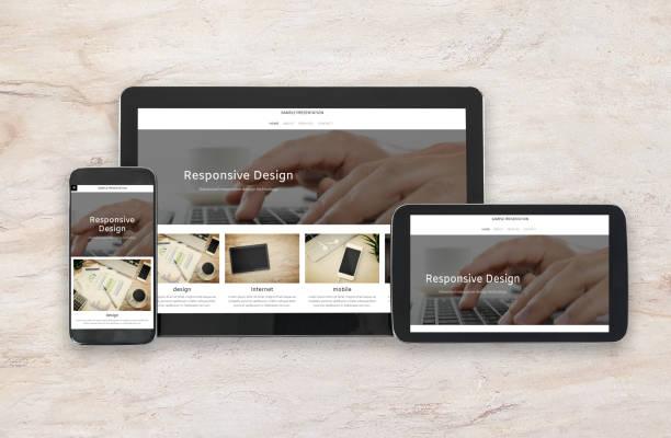 Responsive design technology stock photo