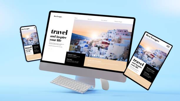 Responsive floating responsive design stock photo