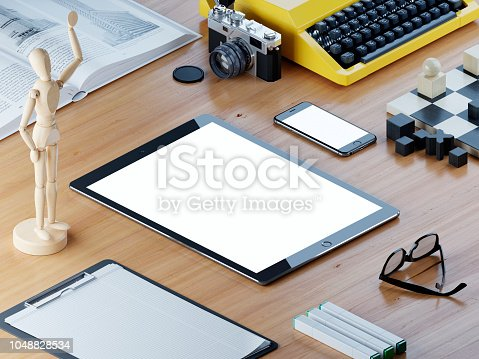 611766442 istock photo Responsive mockup screen tablet and smart phone. 1048828534