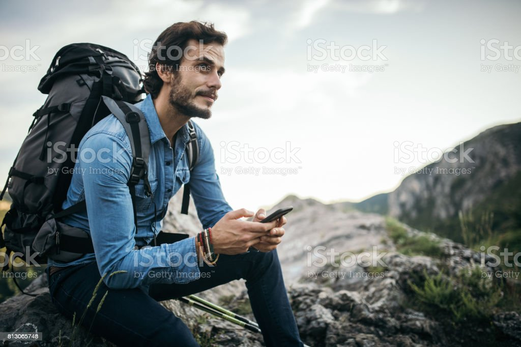 Rest and enjoy the sight stock photo