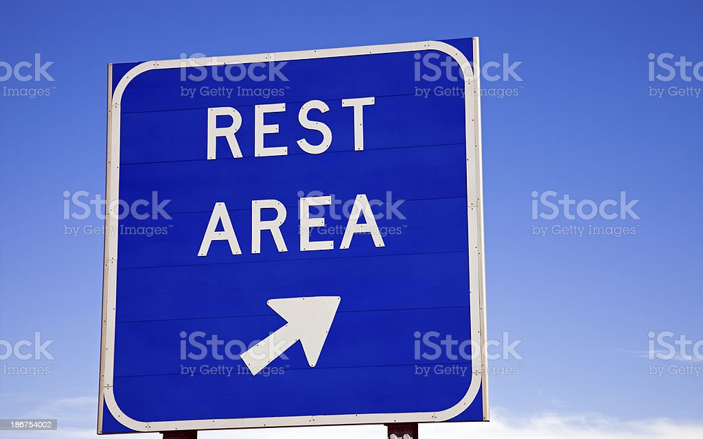 Rest area sign stock photo