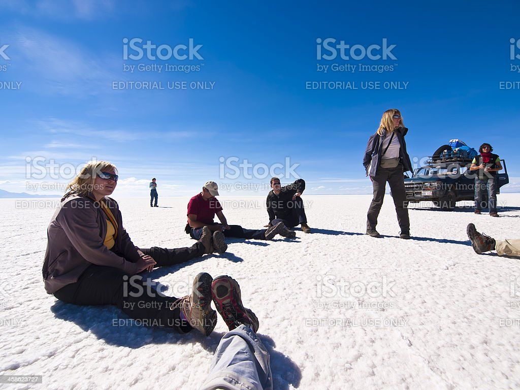 Rest at Uyuni royalty-free stock photo
