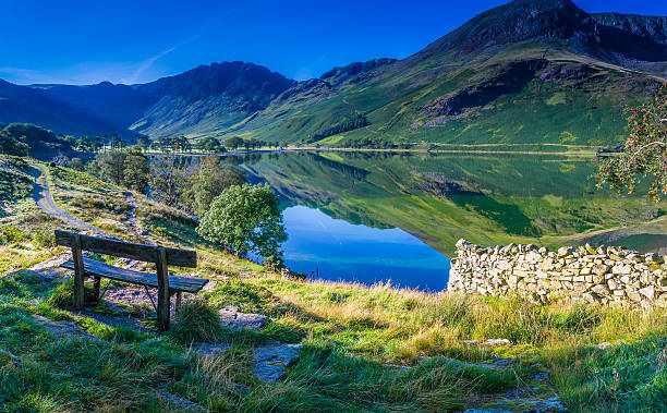 Rest for a moment at Buttermere stock photo