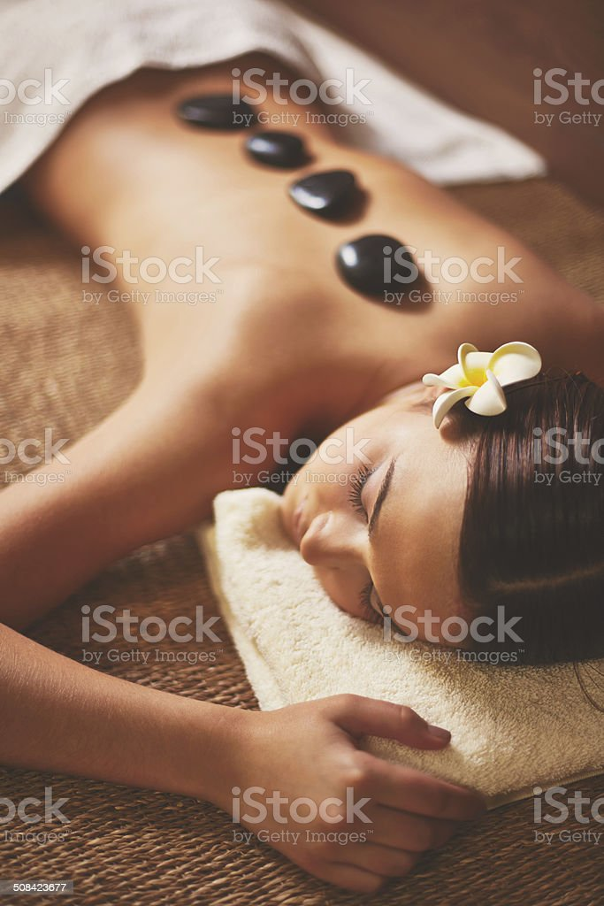 Rest in spa salon stock photo