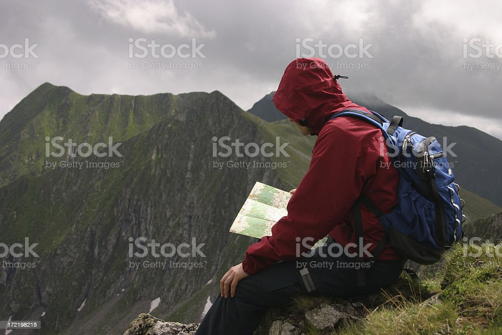 Rest in the mountains stock photo