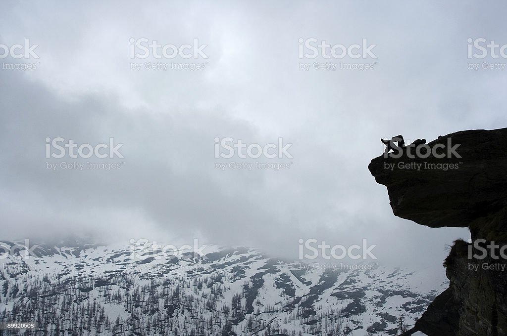 rest of the climber stock photo