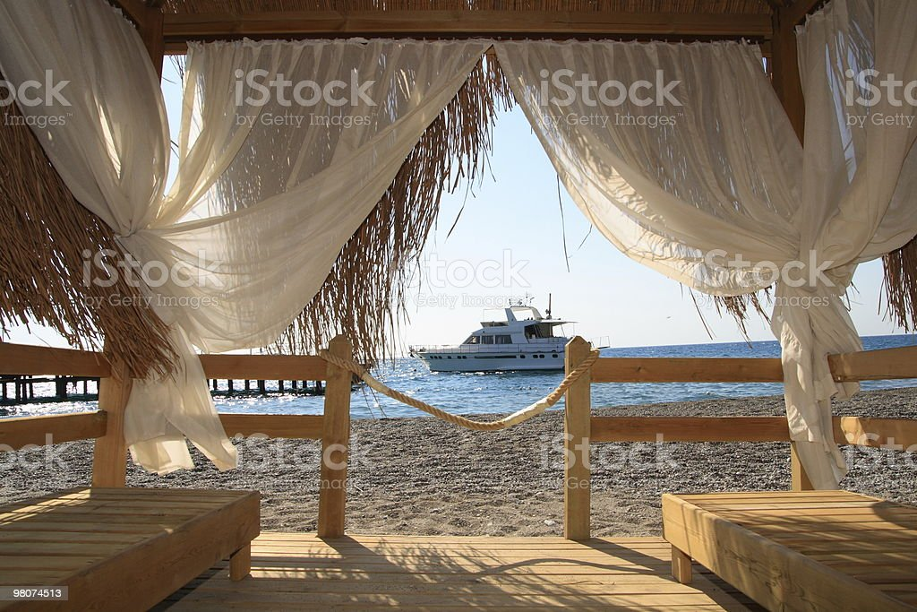 Rest on Beach royalty-free stock photo