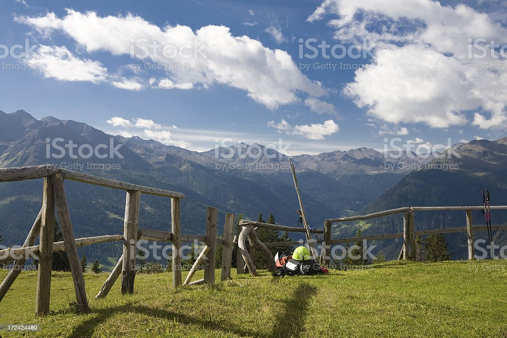 rest on the alp royalty-free stock photo