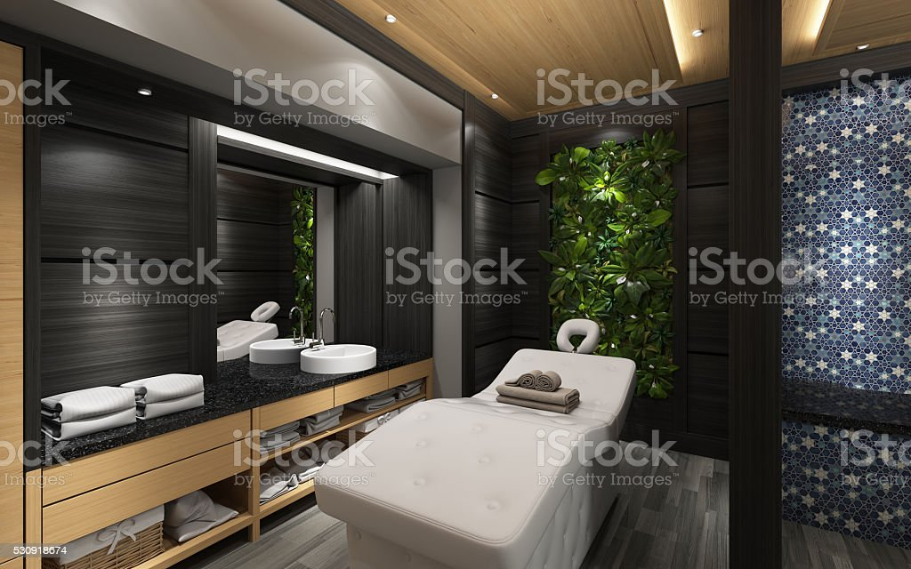 VIP Rest Room In Massage Centre stock photo