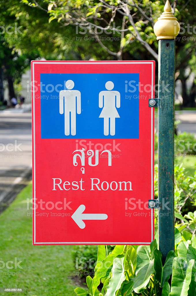 Rest Room Signs stock photo