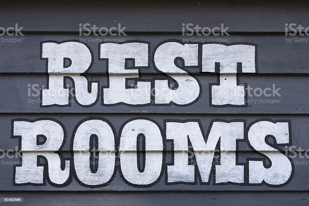 Rest rooms sign royalty-free stock photo
