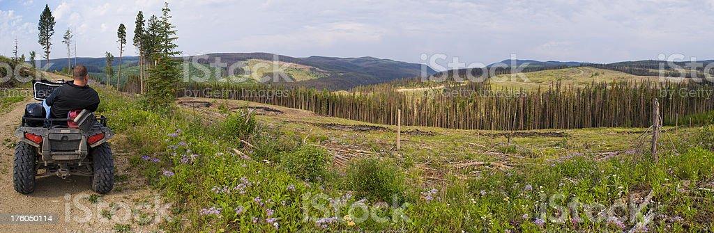 ATV Rest Stop Panoramic XXXL royalty-free stock photo