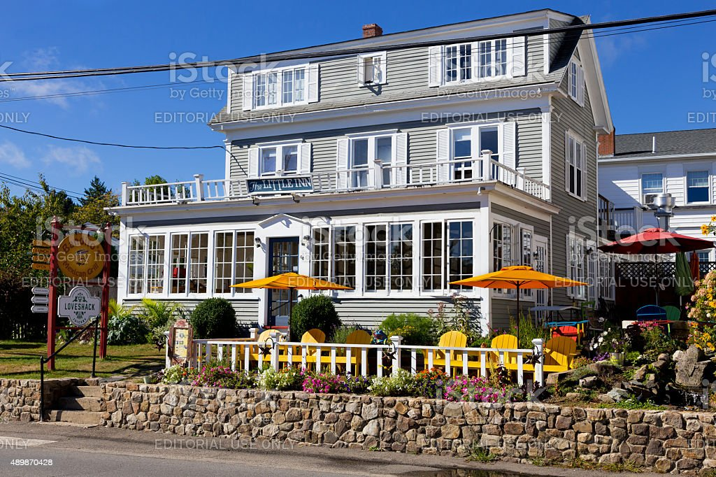 Restaraunt - Bed and Breakfast, Maine, New England, USA. stock photo