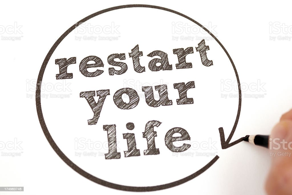 Restart Your Life royalty-free stock photo