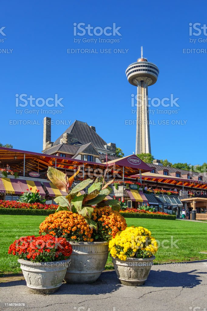 Restaurant And The Skylon Tower In Downtown Niagara Falls