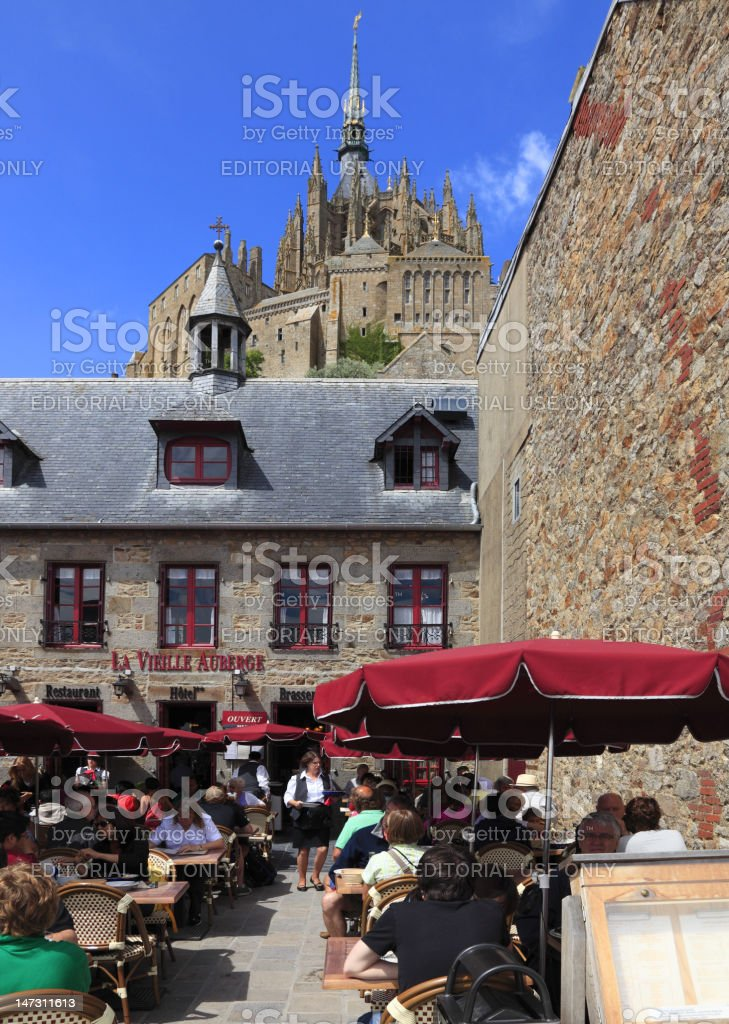 Restaurant at Mt.St.Michel royalty-free stock photo